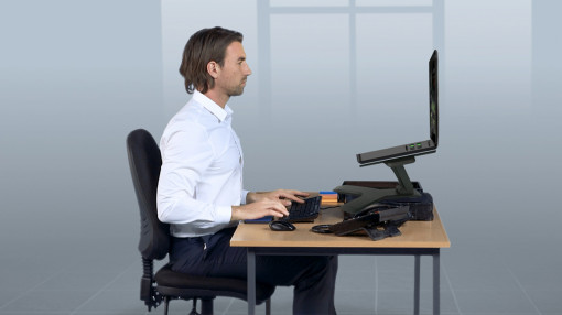 A riser for portable devices on an office desk