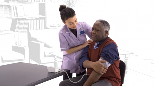 Image of carer looking after patient as part of our deprivation of liberty safeguards training