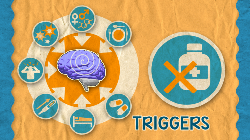 A diagram illustrating what can trigger an Epileptic seizure