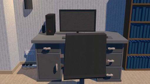 Animated image of a desk