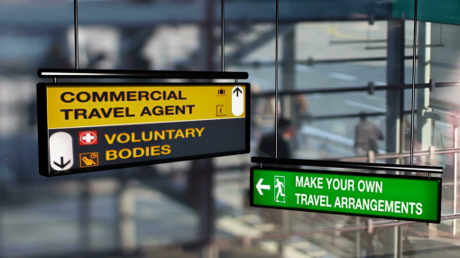 Image showing direction signs at an airport