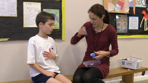 A teacher caring for an unwell child - Medication Awareness Training for Schools