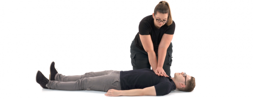 Someone performing CPR - First Aid at Work Training