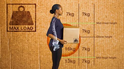 Woman lifting a box - Manual Handling Training