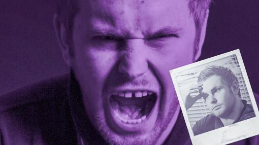 A screaming man with a polaroid of himself looking upset - Safeguarding Vulnerable Adults (SOVA) Training