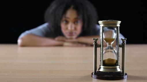 Watching an hour glass - Time Management Training