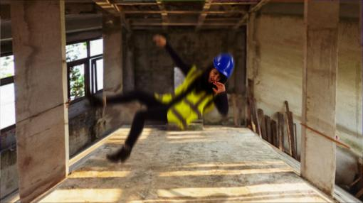 Someone falling from height - Working at Height Training