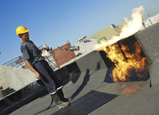 Fire on a construction site - Fire Awareness Training in Construction