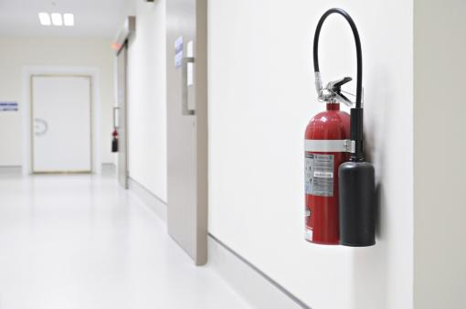 A close-up of a fire extinguisher - Fire Warden Training in Care