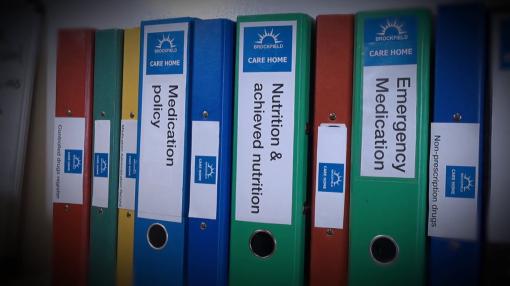 Files on a shelf - Fluids & Nutrition Training