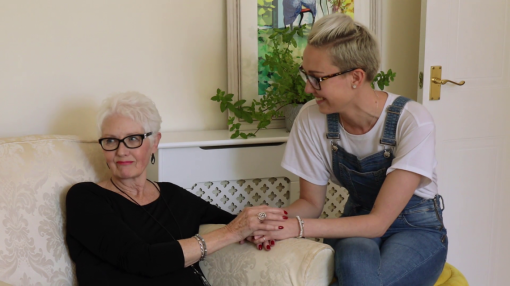 A photo of a patient and family member - Mental Health, Dementia and Learning Disabilities in Care Training