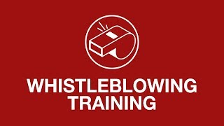 Whistleblowing training youtube thumbnail