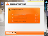 Taking the test  section of slips, trips and falls training programmeby iHasco.co.uk