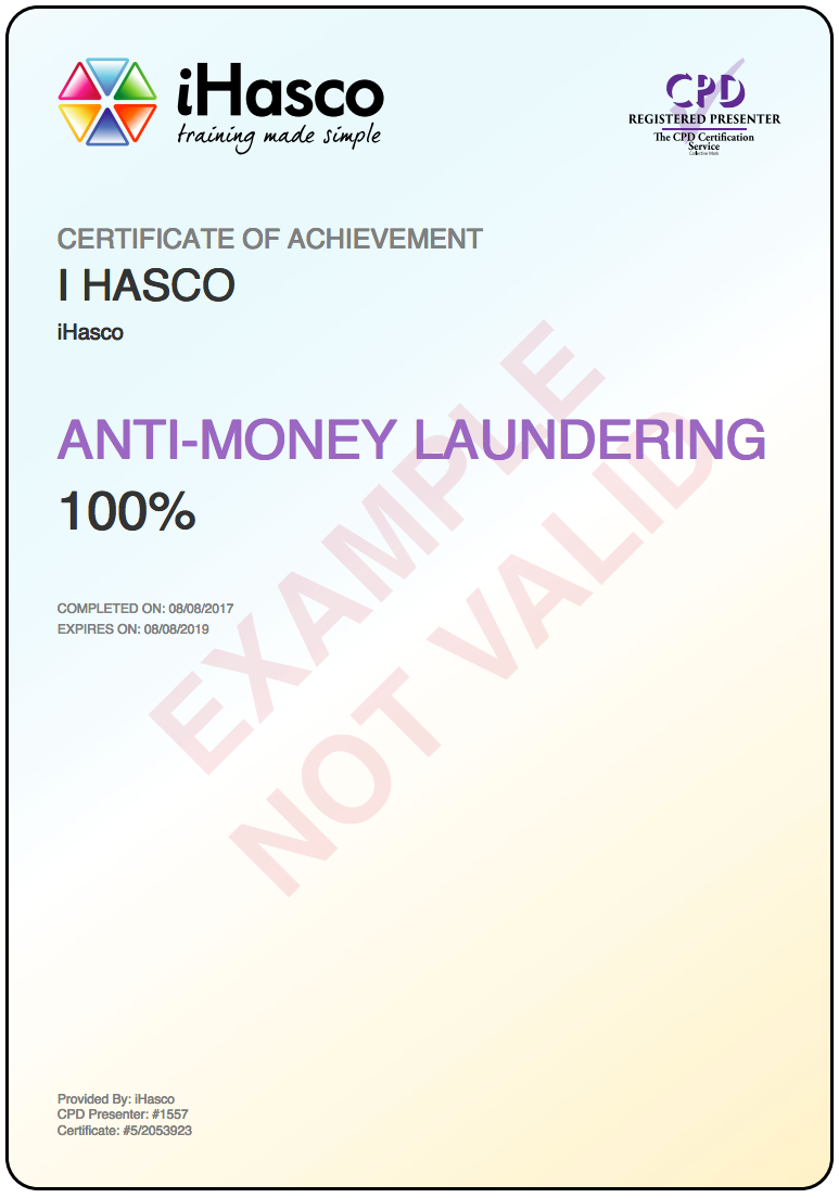 Anti Money Laundering Certificate Uk Forex Trading